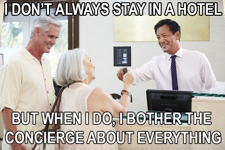 dont always stay in a hotel