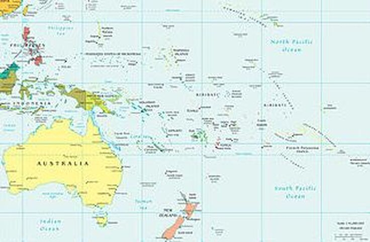 Map of South Pacific
